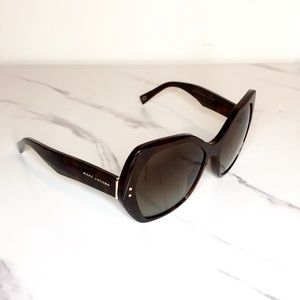 Marc Jacobs brown oversized sunglasses
